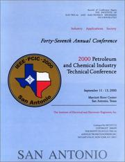 Cover of: 2000 Petroleum and Chemical Industry Technical Conference
