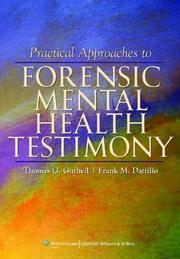 Cover of: Practical approaches to forensic mental health testimony