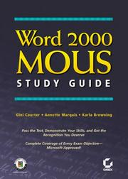 Cover of: Word 2000  MOUS Study Guide