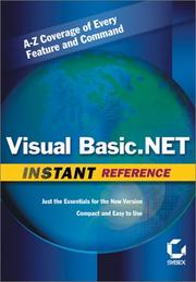 Cover of: Visual Basic .NET Instant Reference