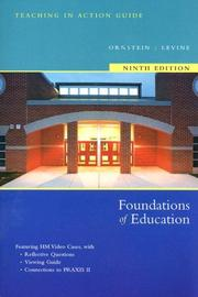 Cover of: Foundations Of Education Media Guide For Packaging 9th Edition
