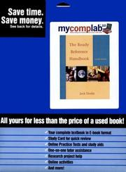 Cover of: Dodds Mcl Xpress Web Ready Reference Fourth Edition (Mycomplab)