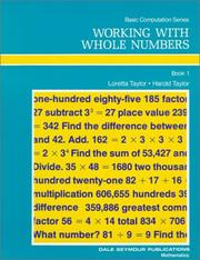 Cover of: Working With Whole Numbers (Basic Computation)