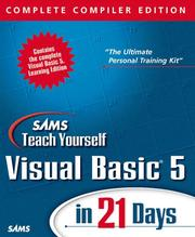 Cover of: Sams Teach Yourself Visual Basic 5 in 21 Days