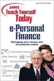 Cover of: Sams Teach Yourself e-Personal Finance Today