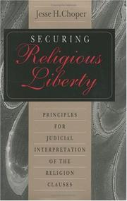 Cover of: Securing religious liberty