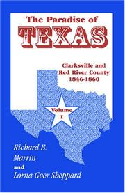Cover of: The Paradise of Texas: Clarksville and Red River County, 1846-1860