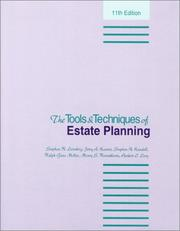 Cover of: The Tools And Techniques of Estate Planning