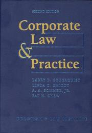 Cover of: Corporate Law & Practice (Practising Law Institute's Corporate and Securities Law Libr) (Practising Law Institute's Corporate and Securities Law Libr)