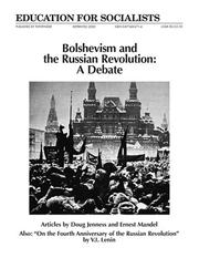 Cover of: Bolshevism and the Russian Revolution