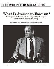 Cover of: What Is American Fascism?