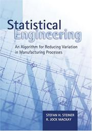 Cover of: Statistical Engineering