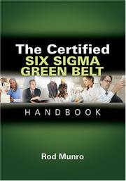 Cover of: The Certified Six Sigma Green Belt Handbook