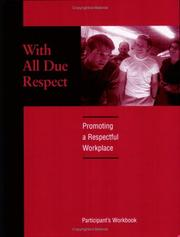 Cover of: With All Due Respect