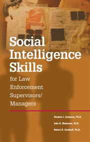 Cover of: Social Intelligence Skills for Law Enforcement Officers
