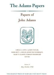 Cover of: Papers of John Adams, Volume 13, 1 May - 26 October 1782 (Adams Papers)