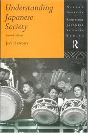 Cover of: Understanding Japanese society