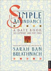 Cover of: Simple Abundance 2003 Engagement Calendar