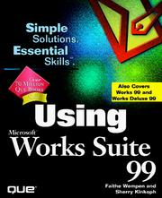 Cover of: Using Microsoft Works Suite 99 (Using)