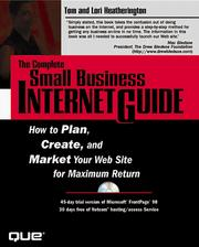 Cover of: The Complete Small Business Internet Guide