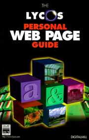 Cover of: Lycos Personal Web Page Guide