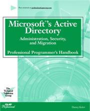 Cover of: The Active Directory