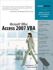 Cover of: Microsoft Office Access 2007 VBA (Business Solutions)