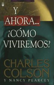 Cover of: Y Ahora...Como Viviremos / How Now Shall We Live