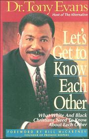 Cover of: Let's get to know each other