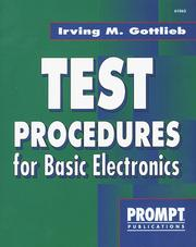 Cover of: Test Procedures for Basic Electronics