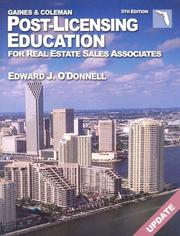 Cover of: Florida Post-Licensing Education for Real Estate Salespersons