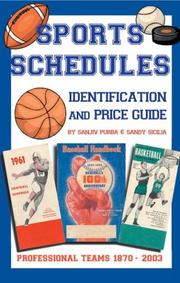 Cover of: Sports Schedule Identification & Price Guide 1870-2003