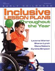 Cover of: Inclusive Lesson Plans Throughout the Year (Early Childhood Education)