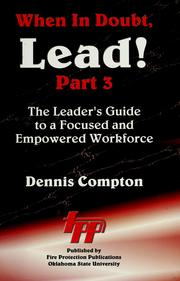 Cover of: When in doubt, lead--