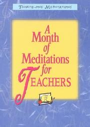 Cover of: A Month of Meditations for Teachers