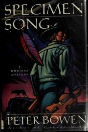 Cover of: Specimen song