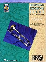 Cover of: Canadian Brass Book of Beginning Trombone Solos