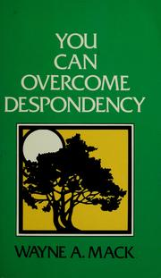 Cover of: You can overcome despondency