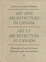 Cover of: Art and architecture in Canada