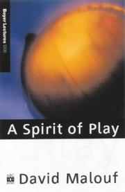 Cover of: A spirit of play: the making of Australian consciousness