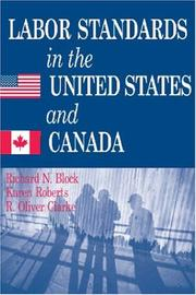 Cover of: Labor Standards in the United States and Canada