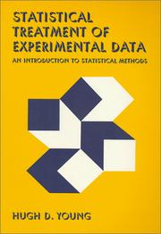 Cover of: Statistical Treatment of Experimental Data