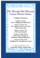 Cover of: Wonderful Dharma Lotus Flower Sutra