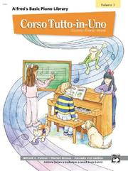 Cover of: Alfred's Basic Piano Library All-in-one Course Book 3 (Alfred's Basic Piano Library)