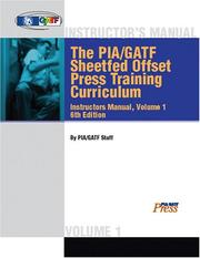 Cover of: Sheetfed Offset Instructor's Training Manual