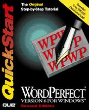 Cover of: WordPerfect version 6 for Windows QuickStart