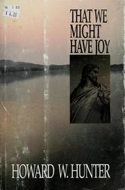 Cover of: That we might have joy