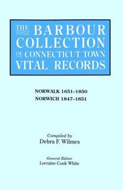 Cover of: The Barbour Collection of Connecticut Town Vital Records [Vol. 32] Norwalk