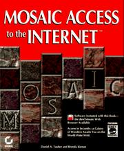 Cover of: Mosaic access to the Internet