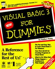 Cover of: Visual Basic 3 for dummies